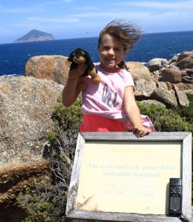 Hannah and Dog at South Point!