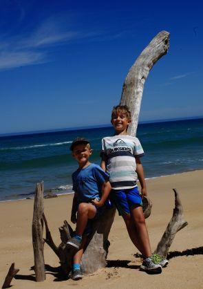 Boys on the beach