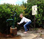 Hannah at hand pump