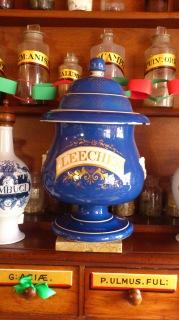 Jar of leeches