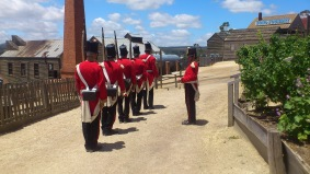 Red Soldiers line-up