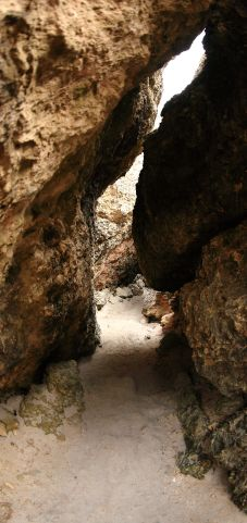 Cave access to the beach
