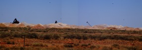 Approach to Coober Pedy town