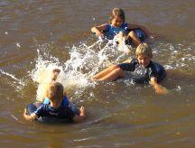 Playing in the waterhole
