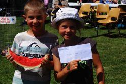 2015 Tunarama Watermelon eating champion and cheque
