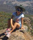Hannah at Olssens peak in the Flinders Ranges