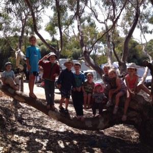 Kids at Stokes Bay, KI
