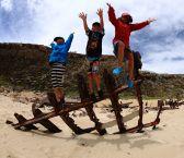 Kids on Ethel Beach