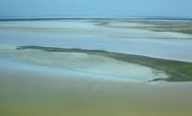 Aerial view of Lake Eyre