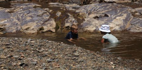 Fun at Youngoona waterhole