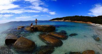 Beach fun in Whalers Bay