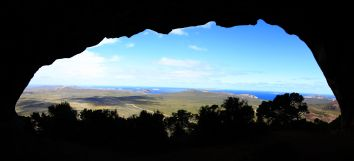 View from Frenchmans Peak cave