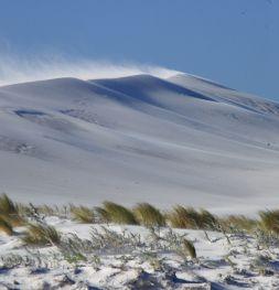 Sand storm at Dunn Rocks