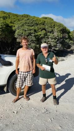 John and Roy Gill at Skippy Rock
