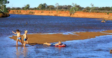 Murchison river at Wooleen