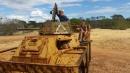 Fun on the fake tank