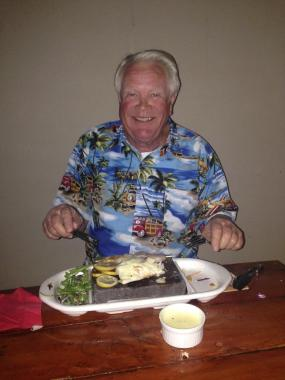 Geoff's stone grill fish