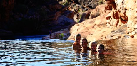 "Bells Gorge top ""infinity"" pool"