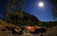 Full moon over Sawpit Gorge