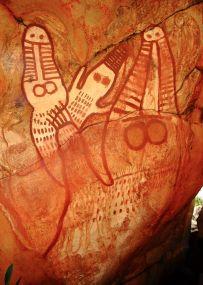 Crocodile rock art