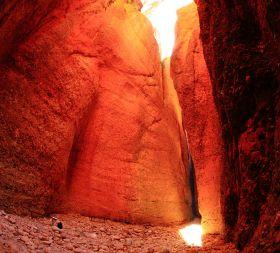 Inside Echidna Chasm