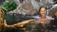 Relaxing in the hot springs