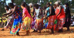 Colourful dancers