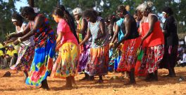 Colourful dancers