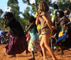 Emu dance at Garma