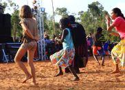 Hannah gets into the Emu dance