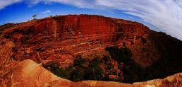 Sheer cliff edges
