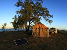 Camp at Maccassan Beach
