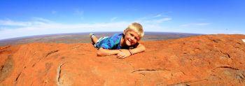 Oscar on Uluru