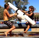Taking on the boys at the Todd River Regatta
