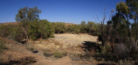 Henbury meteorite crater