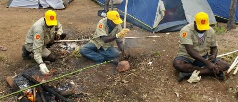 Spear-making demonstration