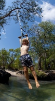 Rope fun at Nolans creek