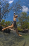 Nolans Brook rope swing action