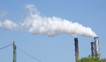 The sugar cane factory chimneys