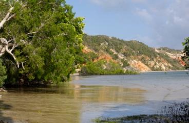Coloured sands beach
