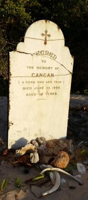 Gravesite at Somerset beach
