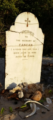Gravesite at Somerset beach