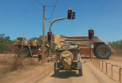 The traffic lights for Rio Tinto trucks