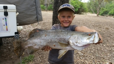 Oscar's big barra!