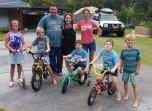 With Charmaine, John and kids