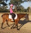 Hannah riding in Armidale