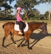 Hannah riding in Armidale