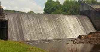 Emigrant dam wall