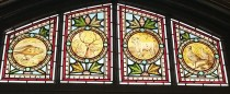 Stained window in the dining room