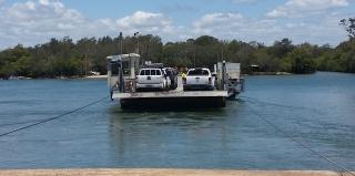 Noosa river car ferry